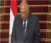 وزير الخارجية: السياسة المصرية تمتنع عن التدخل في شئون الدول الأخرى| فيديو