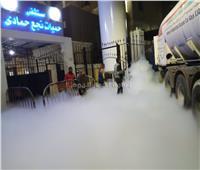 الصور الأولى لانفجار تانك أكسجين أمام مستشفى نجع حمادي بقنا
