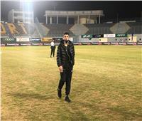 لاعبو الزمالك يعاينون أرضية ستاد «برج العرب»