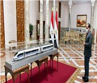 الرئيس السيسي يستعرض الاتفاق النهائي لتنفيذ القطار الكهربائي السريع | فيديو وصور