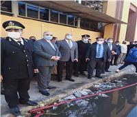 محافظ القاهرة يتفقد حريق ورشة صيانة بجوار المخازن المركزية لوزارة الصحة