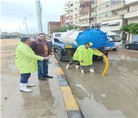 رفع درجة الاستعداد القصوى في الإسكندرية لتصريف تراكمات الأمطار