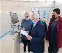 رئيس «مياه المنوفية» يتفقد محطات شبين الكوم