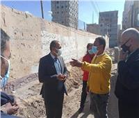 رئيس مدينة المنيا يتابعأعمال خطة الرصف بالشوارع