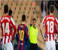العقوبة المتوقعة على ميسي بعد تلقيه أول بطاقة حمراء مع برشلونة