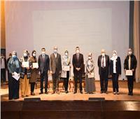 رئيس جامعة عين شمس يكرم أعضاء هيئة التدريس الحاصلين على مكافأة النشر الدولي