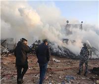 محافظ القاهرة يتفقد موقع حريق الشرابية