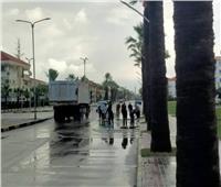 جهود مكثفة لإزالة أثار الأمطار بدمياط | صور