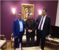 هشام حطب يستقبل رئيس الاتحاد العربي للجودو برفقة نظيره المصري