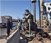 محافظ أسيوط يتابع أعمال تنفيذ  مشروع كوبري «منقباد» العلوي