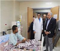 محافظ الجيزة يتفقد مستشفى العياط المركزى