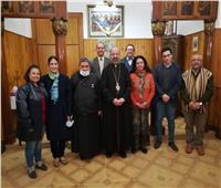 بطريرك الكاثوليك يجتمع مع لجنة البحث العلمي بالإيبارشية بكوبري القبة