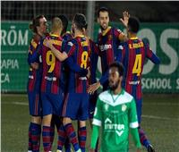 شاهد| برشلونة يفوز بصعوبة على كورنيا في كأس ملك إسبانيا