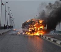 انفجار سيارة محملة بإسطوانات الغاز بالإسماعيلية