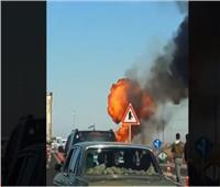 لحظة انفجار سيارة محملة بإسطوانات بوتاجاز بالإسماعيلية| فيديو