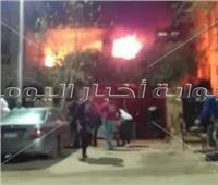 ماس كهربائي في المدفأة وراء حريق فيلا ومصرع مسنة بحدائق الأهرام   صور
