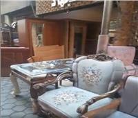 فيديو| المناصرة أكبر وأشهر منطقة لبيع الأثاثات الخشبية في القاهرة