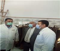 محافظ الغربية يتفقد مستشفى حميات المحلة