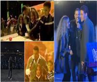 فيديو | الهضبة يُكرر سيناريو 2010 بظهور تؤأمه على المسرح