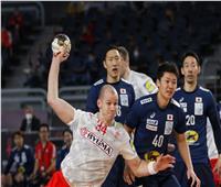 مونديال اليد الدنمارك تتقدم على اليابان في الشوط الأول