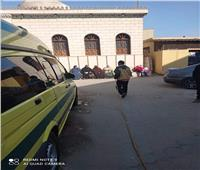 تطهير موقف سيارات ومستشفى بهتيم المركزي بالقليوبية