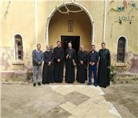 الأنبا باخوم يجتمع بكهنة وشمامسة منطقة الدلتا بكنيسة مارجرجس بأشمون