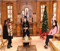 البابا تواضروس يستقبل رئيسة «القومي للمرأة» للتهنئة بالأعياد