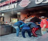 التحريات توضح أسباب حريق مطعم شهير بالبساتين