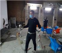 التحفظ على 31 شيشة في حملة ليلية بكفر الدوار