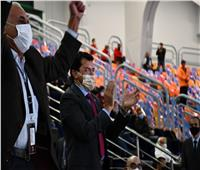 وزير الرياضة يشهد مباراة مصر والدنمارك في دور الثمانية بمونديال اليد