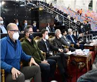 وزير الرياضة يشهد مباراة إسبانيا والدنمارك