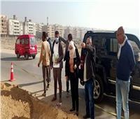 نائب محافظ القاهرة تتفقد أعمال تطوير حي البساتين