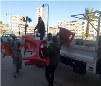رفع 204 حالة إشغال طريقوإعدام 214 شيشه فى 5 مراكز بالبحيرة