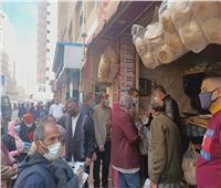 غلق ٧ محال و٢٨ ألف جنيه غرامات وإزالة ١٧ حالة إشغال طريق بالإسكندرية