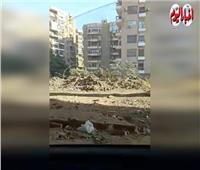 أهالي شارع إبراهيم خطاب يعانون من تراكم أكوام مخلفات البناء
