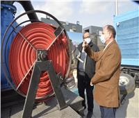 اصطفاف معدات شركة مياه الشرب لمواجهة الأمطار والسيول في أسيوط