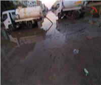 استمرار سحب مياه الأمطار بطريق «السويس- القاهرة» لليوم الثالث