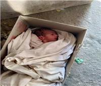 العثور علي طفل رضيع أمام عيادة بالمرج