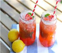 طريقة تحضير مشروب الليمون والفراولة