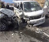 السرعة الزائدة وراء حادث تصادم طريق القاهرة السويس