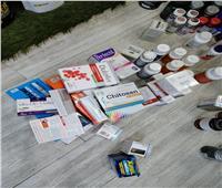 ضبط مخزن لبيع مكملات غذائية وأدوية مجهولة المصدر بالغربية