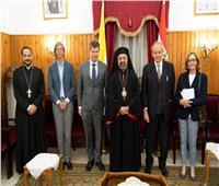 بطريرك الكاثوليك يستقبل السفير البلجيكي بمصر