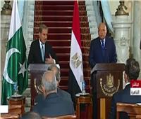 بث مباشر  مؤتمر لوزير الخارجية سامح شكري ونظيره الباكستاني