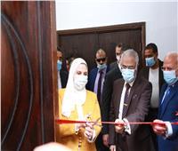 القباج والغضبان يفتتحان وحدة التضامن الاجتماعي بجامعة بورسعيد