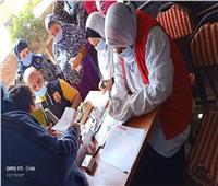 توقيع الكشف الطبي بالمجان على 600 مواطن بقرية كفر حشاد في الغربية