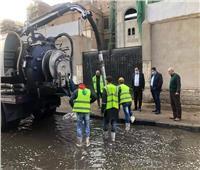 نائب محافظ القاهرة يتابع شفط مياه الأمطار بالأحياء الشمالية
