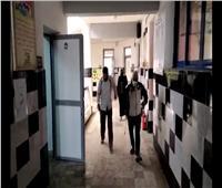 تعقيم لجان المدارس قبل بدء الامتحانات بمطروح