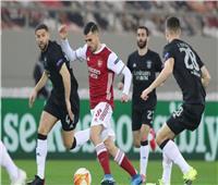 التعادل يحسم الشوط الأول بين أرسنال وبنفيكا في الدوري الأوروبي