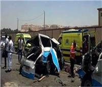إصابة سائق في حادث تصادم 3 سيارات بالمنيا