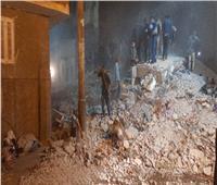استخراج 9 أشخاص من أسفل أنقاض المنزل المنهار بأسيوط   صور